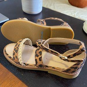 Elephantito Little Girl Braided Leopard Sandals